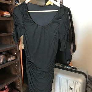 Limited Black Short Sleeved Body Con Dress